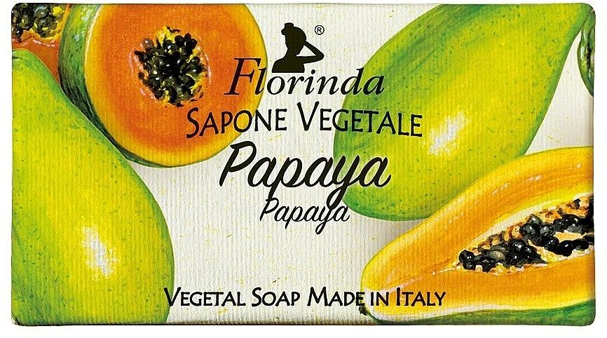 Savon végétal, Papaye - Florinda Papaya Natural Soap — Photo N1