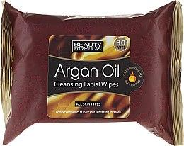 Parfums et Produits cosmétiques Lingettes nettoyantes à l'huile d'argan pour visage - Beauty Formulas Argan Oil Cleansing Facial Wipes