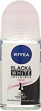 Parfums et Produits cosmétiques Déodorant roll-on anti-traces blanches et jaunes - Nivea Invisible Black & White Clear