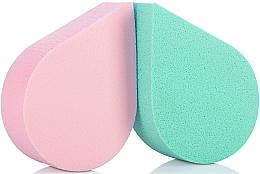 Parfums et Produits cosmétiques Éponges à maquillage, 35814, vert et rose - Top Choice