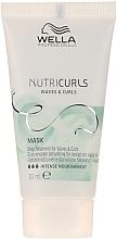 Parfums et Produits cosmétiques Masque intense nourrissant pour cheveux bouclés - Wella Professionals Nutricurls Mask (mini)