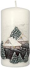 Parfums et Produits cosmétiques Bougie décorative, Maison de Noël, 7 x 14 cm - Artman Christmas House Candle
