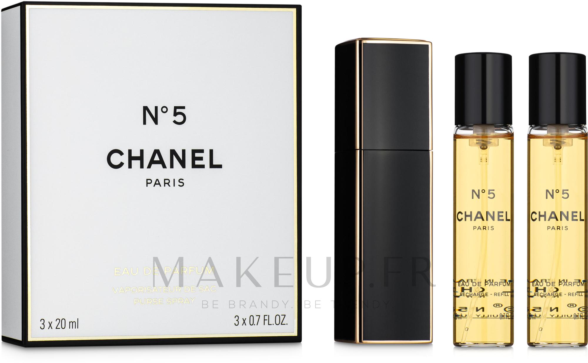Chanel N5 Purse Spray - Eau de Parfum (vaporisateur de sac + recharges/x2) — Photo 3x20 ml