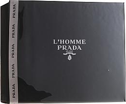 Parfums et Produits cosmétiques Prada L'Homme Prada - Coffret (eau de toilette/50ml + crème de douche/100ml)