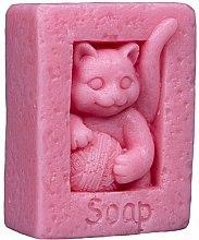Parfums et Produits cosmétiques Savon naturel artisanal, Chat , rose - LaQ Happy Soaps