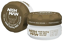 Parfums et Produits cosmétiques Gel-cire coiffant - Nishman Hair Styling Gel Wax B7 Gold One