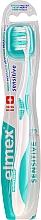 Parfums et Produits cosmétiques Brosse à dents, souple, turquoise - Elmex Sensitive Toothbrush Extra Soft