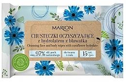 Parfums et Produits cosmétiques Lingettes nettoyantes à l'hydrolat de bleuet pour corps et visage - Marion