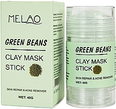 Parfums et Produits cosmétiques Masque en stick pour visage Haricots verts - Melao Green Beans Clay Mask Stick