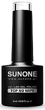 Parfums et Produits cosmétiques Top pour vernis hybride sans couche collante - Sunone UV/LED Gel Polish Top No Wipe