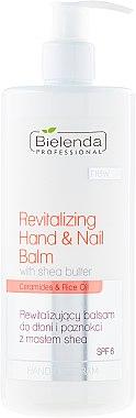 Baume au beurre de karité et huile de riz pour mains et ongles - Bielenda Professional Hand Program Revitalizing Hand & Nail Balm SPF 6