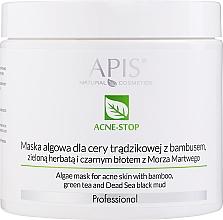 Parfums et Produits cosmétiques Masque aux algues, bambou et thé vert pour visage, cou et décolleté - APIS Professional Algae Mask For Acne Skin