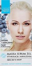 Parfums et Produits cosmétiques Gel masque-sérum à l'huile de jojoba et à l'extrait de myrtille pour visage Stimulation de l'hydratation - Czyste Piekno Face Mask Serum Gel