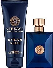 Parfums et Produits cosmétiques Versace Pour Homme Dylan Blue - Coffret (eau de toilette/100ml + gel douche/150ml)