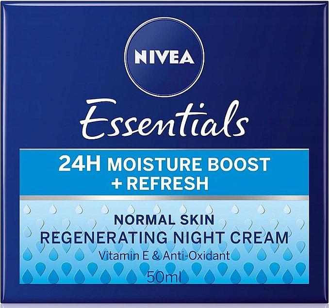 Crème de nuit à la vitamine E - Nivea Essentials 24H Moisture Boost + Refresh Cream