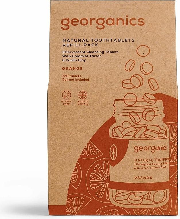 Comprimés de nettoyage des dents, Orange (recharge) - Georganics Natural Toothtablets Orange — Photo N1