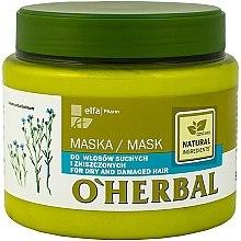 Parfums et Produits cosmétiques Masque à l'extrait de lin pour cheveux - O'Herbal