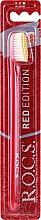 Parfums et Produits cosmétiques Brosse à dents, Red Edition, médium, rouge-jaune - R.O.C.S.