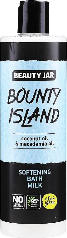 Lait de bain à l'huile de coco et macadamia - Beauty Jar Bounty Island Softening Bath Milk