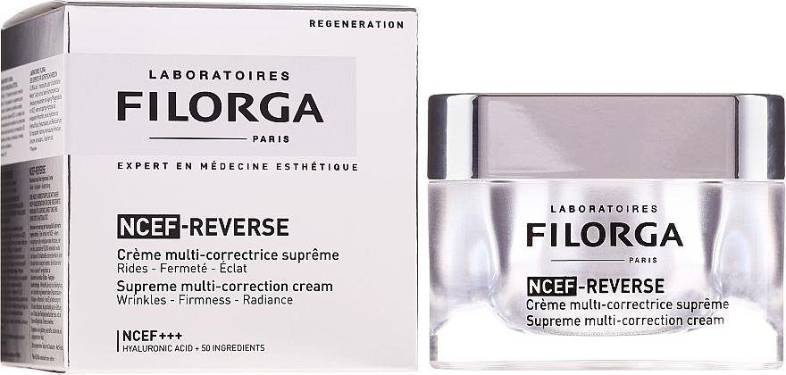 Crème multi-correctrice à l'acide hyaluronique pour visage - Filorga NCTF-Reverse Supreme Regenerating Cream