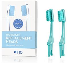 Parfums et Produits cosmétiques Têtes de remplacement pour brosse à dents, medium, turquoise - TIO Toothbrush Medium