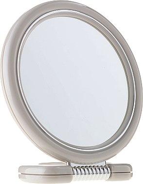 Miroir rond à poser double face, 12 cm, 9504, gris - Donegal Mirror