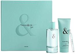 Parfums et Produits cosmétiques Tiffany & Co Tiffany & Love For Her Gift Set - Coffret (eau de parfum/90ml + eau de parfum/4ml + lotion corporelle/100ml)