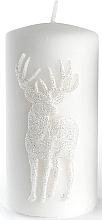 Parfums et Produits cosmétiques Bougie décorative, blanc, 7x14 cm - Artman Jelen Application (Deep Application)