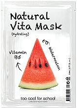 Parfums et Produits cosmétiques Masque tissu à la vitamine B5 pour visage - Too Cool For School Natural Vita Mask Hydrating