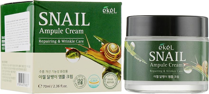 Crème anti-rides à la bave d'escargot pour visage - Ekel Snail Ampule Cream — Photo N1