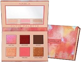 Parfums et Produits cosmétiques Palette de fards à paupières - Nabla Cutie Collection Palette Coral