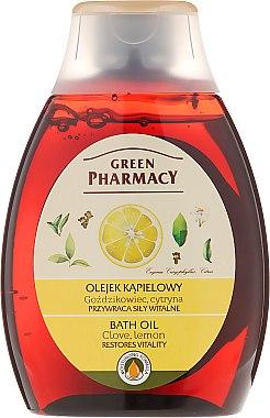 Huile de bain au clou de girofle et citron - Green Pharmacy