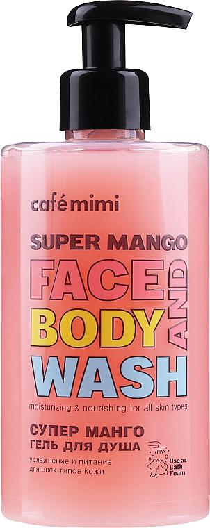 Gel douche à l'extrait de mangue pour visage et corps - Cafe Mimi Super Mango Face And Body Wash