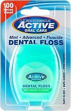 Parfums et Produits cosmétiques Fil dentaire ciré au fluor goût menthe, 100m - Beauty Formulas Active Oral Care Dental Floss Mint Waxed + Fluor 100m