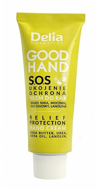 Crème au beurre de karité pour mains - Delia Good Hand S.O.S Relief Protection Hand Cream — Photo N1