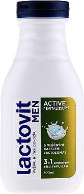 Gel douche 3 en 1 pour homme - Lactovit Men Active 3v1 Shower Gel — Photo N1