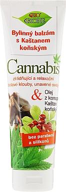 Baume à l'huile de chanvre et marronier pour pieds - Bione Cosmetics Cannabis Herbal Ointment With Horse Chestnut