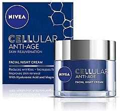Parfums et Produits cosmétiques Crème de nuit à l'acide hyaluronique et extrait de magnolia - Nivea Cellular Anti-Age Skin Rejuvenation Night Cream