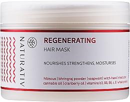 Parfums et Produits cosmétiques Masque à l'extrait d'hibiscus et beurre de karité pour cheveux - Naturativ Regeneration Mask