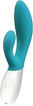 Parfums et Produits cosmétiques Vibromasseur intime bleu pour femme, lapin, double plaisir - Lelo Ina Wave Ocean Blue