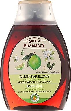 Huile de bain à la bergamote et lime - Green Pharmacy