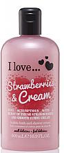 Parfums et Produits cosmétiques Crème de douche et bain moussant, Fraise et Crème - I Love... Strawberries & Cream Bubble Bath And Shower Creme