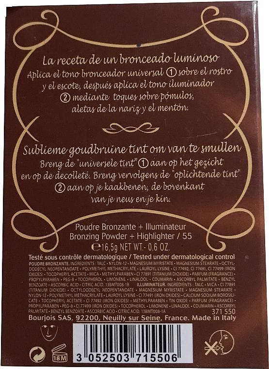 Duo poudre bronzante et illuminateur compact - Bourjois Delice De Poudre Bronzing Duo Powder + Highlighter — Photo N4