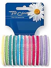 Parfums et Produits cosmétiques Élastiques à cheveux 12 pièces, colorés - Top Choice 22234