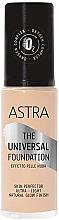 Parfums et Produits cosmétiques Fond de teint - Astra Make-up The Universal Foundation