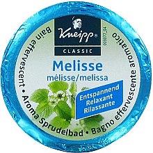 Parfums et Produits cosmétiques Galet de bain effervescent à la mélisse - Kneipp Aroma Sprudelbad Melisse