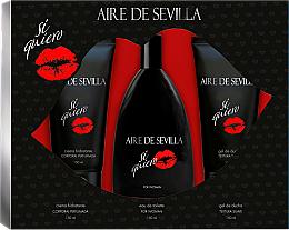 Parfums et Produits cosmétiques Instituto Espanol Aire de Sevilla Si Quiero - Set (eau de toilette/150ml + gel douche/150ml + crème pour corps/150ml)
