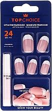 Parfums et Produits cosmétiques Kit de faux ongles avec colle French manucure,74066 - Top Choice
