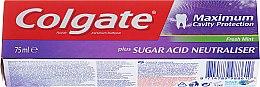 Parfums et Produits cosmétiques Dentifrice avec neutraliseur d'acides de sucre - Colgate Maximum Cavity Protection Fresh Mint