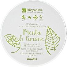 """Parfums et Produits cosmétiques Crème mains """"Menthe et citron"""" - La Saponaria Hand Cream Mint and Lemon"""